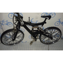 Bicicleta De Montaña Metal Sport Escala Nueva Negra 1:16