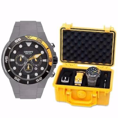 f28c438bfb2 Relógio Orient Solar Titânio Cronógrafo Masculino Mbttc014 - R  1.399