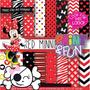 Kit Imprimible Pack Fondos Minnie Mouse Clipart Cod 4