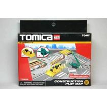 Set Construcción Komatsu Bulldozer Maeda Grua Tomica Tomy