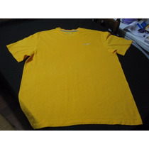 Polera Nike Talla Xl Cuello Redondo Manga Corta Color Amaril
