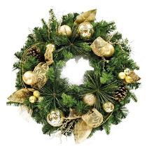 Guirlanda De Natal Dourada 60cm Importada Luxuosa!