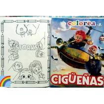10 Cuadernos Para Iluminar Dulcero Fiesta Bolo Cigüeñas