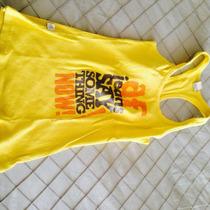 Polera Básica Amarilla Marca Af Y Zara