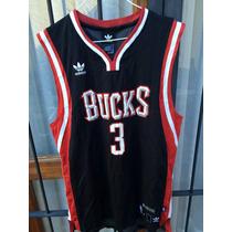 Camiseta Nba (adidas)usa,milwaukee Bucks #3 T M Ed Lim Nueva