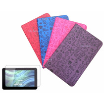 Capa Case Desenhos Tablet Cce Motion Tr101 + Pelicula+caneta