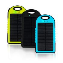 Bateria Solar Externa Powerbank 2 Puertos Usb 5000 Mah