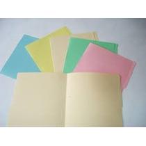 100 Folder Tamaño Carta Colores Pastel.