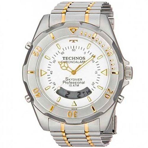 cb46ab5e294 Relógio Technos Masculino Skydiver T20557 9b Misto   Bicolor - R ...