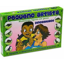Molde Gesso Pequeno Artista Dinossauros - Brinquedos