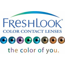 Pupilentes Freshlook-5 Pares Y 5 Estuches Mas Envio Gratis!