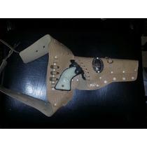 Fantastico Revolver De Juguete De Metal Daito Con Cinturon