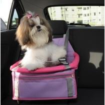 Assento Cadeira P/ Auto Pet Para Cães E Gatos Transpet Rosa