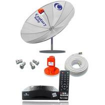 Antena Parabolica Century Completa + Receptor + Lnbf + Cabo