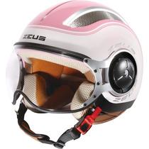 Capacete Zeus 218 Ss6 Branco/rosa 55/56 Rs1