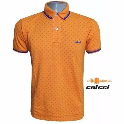 e19ad5941 Camisa Polo Colcci Laranja Estampada Frete Grátis - R$ 106,78 em Mercado  Livre
