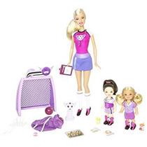 Juguete Barbie I Puede Ser ... Entrenador De Fútbol Playset