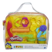 Massinha Play-doh - Estojo Multi Ferramentas + 4 Potes