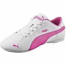Tenis Color Blanco/rosa Marca Puma Original