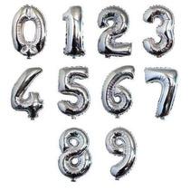 Balão Metalizado Número 40cm Aniversário Decoração Festa