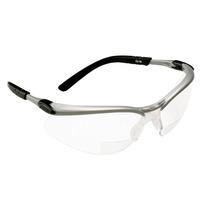 3m Reader +2.5 Diopter Safety Glasses, Silver/black Frame, C