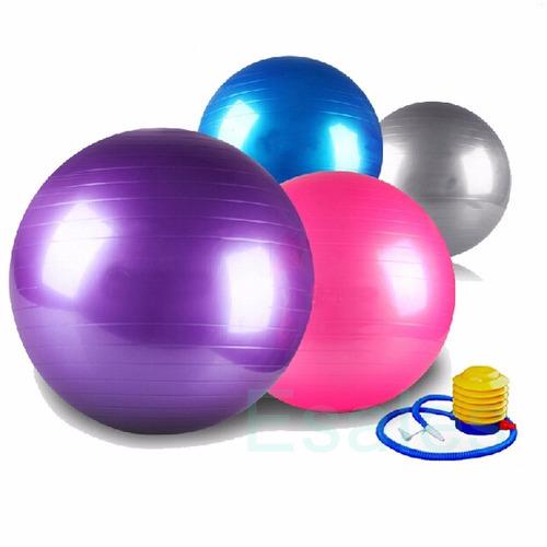Bola Suiça Pilates Yoga Abdominal Fitness 65cm Bomba Grátis - R  99 ... 6e0ee9323a517