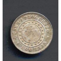 Moneda Brasil 500 Reis Km# 494 1889 Plata Excelente Estado