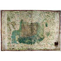 Lienzo Tela Mapa Tenochtitlán México 1521 Códice Mexica
