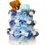 Dulce Del Bebé Del Pañal Pastel Regalo Torre Con Teddy Bear