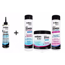 Kit Shampoo Bomba Salon Line + Tônico Salon Line Crescimento