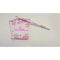 Bloquinho Personalizado Lápis - Flores Jardim - 50