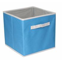 Cesto Para Ropa Caja Organizadora Cenefa Azul Grande Dicsa