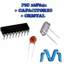 Microcontrolador Pic 16f84a Micro Chip+cristal+capacitores