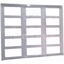 Porton Reforzado Aluminio Blanco Vidrios Horizontal 240x200