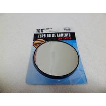 Espelho De Aumento Portátil Redondo C/ Ventosa