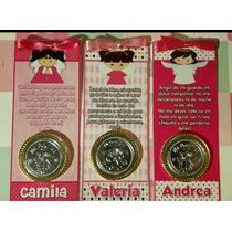 10 Bolos Personalizados C/moneda Placa De Repujado Bautizo