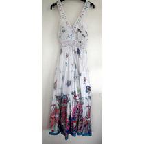 Maxi Vestido Largo Importado Corte Princesa Hippie Chic