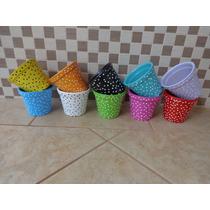 Vaso/vasinho/cachepot Em Cerâmica Kit 10 Unid. Cor: Sortida