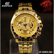 Reloj Casio Edifice Dorado Ef-550fg Sellado Original 2016