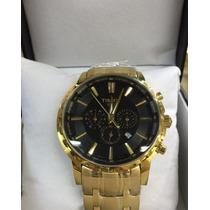 Relógio Masculino Tissot Preto Dourado 1853 12x Sem Juros