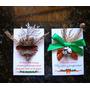 3 Tarjetas Navidad Artesanal Imán: Semillas, Piñas, Ramitas.