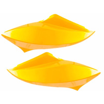 Carenagem Lateral Do Farol Titan 150 2012/13 Amarelo