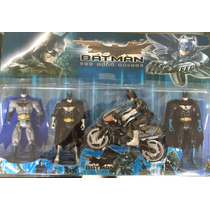 Kit 4 Bonecos Batman The Dark Knight + Bat Moto