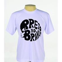 Camiseta Camisa Estampada Banda Preto No Branco Evangélica