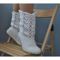 Botas Tejidas, Crochet Damas Y Niñas (altas)