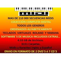 + De 110 000 Secuencias Midis Envio En Dvd Ó 7 Cd