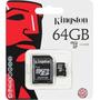Memoria Kingston Micro Sd 64 Gb 45mb/seg Clase 10