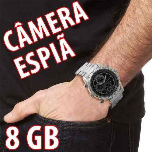 6994fc6435d Relogio Digital Pulso Masculino Mine Camera Que Filma E Tira - R ...