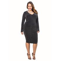 Vestido De Fiesta Lurex Ashley Stewart Talle 3x Plus