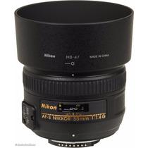 Lente Nikon 50mm F1.4g Af-s C/ Parasol Pronta Entrega F/1.4g